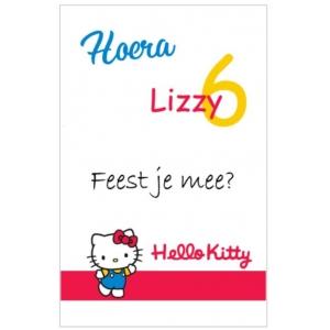 Uitnodiging Hello Kitty