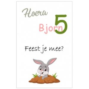 Uitnodiging konijn